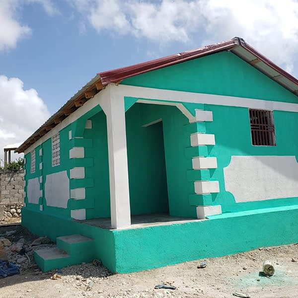 A new, finished home in Haiti